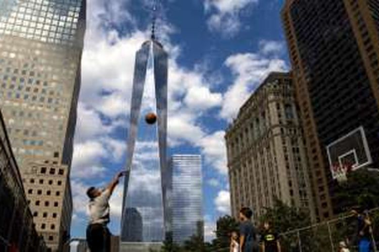 Menara World Trade Center di Manhattan, New York, 26 Agustus 2016.
