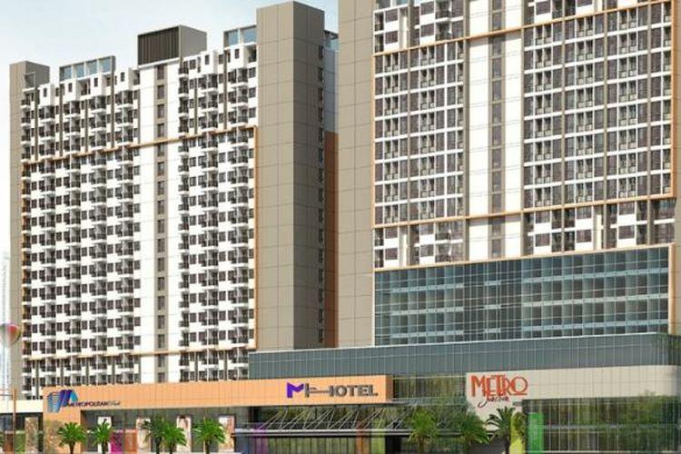 Proyek Metropolitan Park Apartment di Jl Lingkar Utara, Telaga Mas, Bekasi Utara, sudah memasuki tahap penutupan atap dan memasuki tahapan finishing.