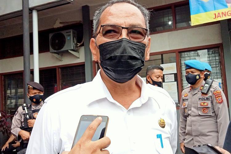 Sekretaris Daerah Kota Tasikmalaya, Ivan Dicksan, saat diwawancara di Kantor Dinas Kesehatan Kota Tasikmalaya, Rabu (27/1/2021).