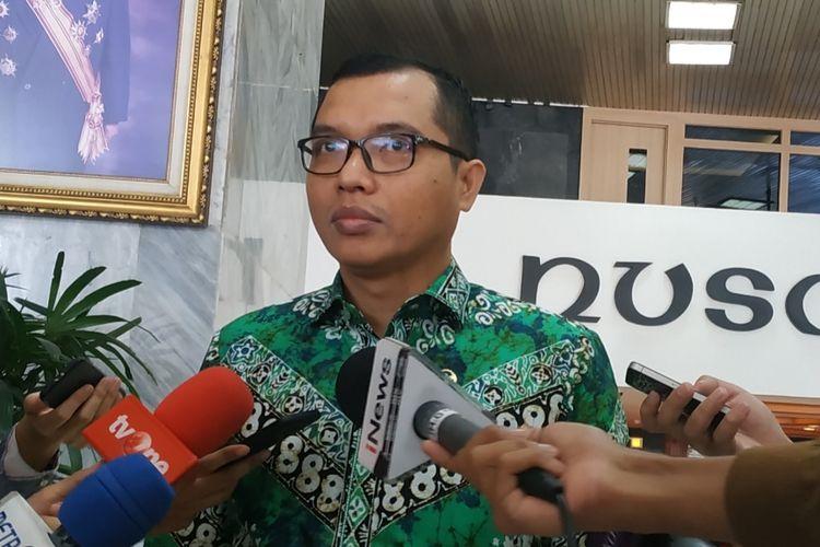 Wakil Sekretaris Jenderal PPP Achmad Baidowi di Kompleks Parlemen, Senayan, Jakarta, Kamis (24/10/2019).