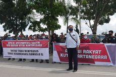 Bawaslu RI Rekomendasi Calon Bupati Kukar Didiskualifikasi, Massa Demo KPU