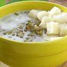 Resep Sarapan Sehat untuk Keluarga, Bubur Kacang Hijau dengan Roti Tawar