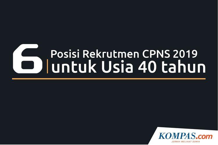 Infografik: 6 Rekrutmen CPNS 2019 untuk Usia 40 Tahun