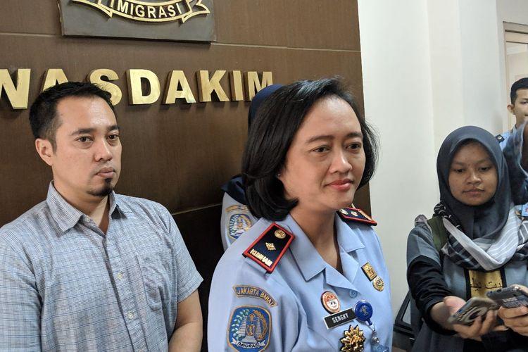 Kepala Kantor Imigrasi Non TPI Kelas I Kota Tangerang, Felusia Sengky Ratna di kantornya, Selasa (11/2/2020)