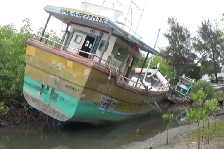 Tangkapan layar kapal misterius di Aceh (Kompas TV)
