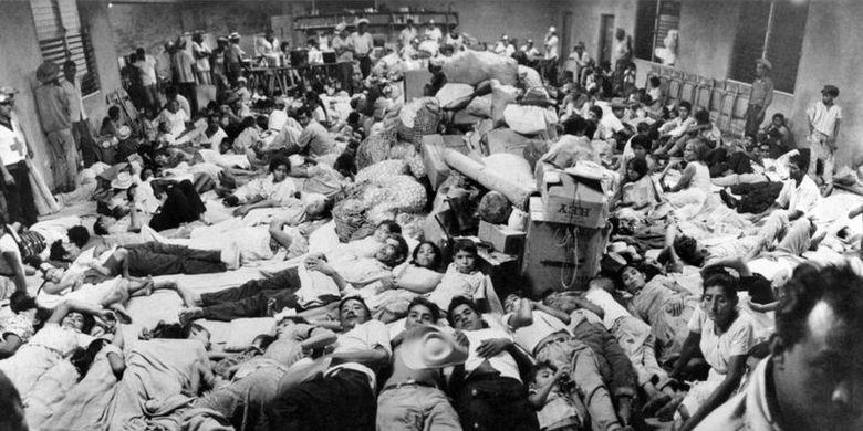 Orang-orang El Salvador yang tinggal di Honduras pada saat perang terjadi.