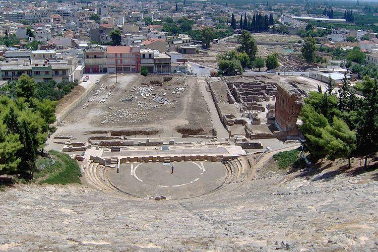 Theatre kuno di Argos, Yunani.