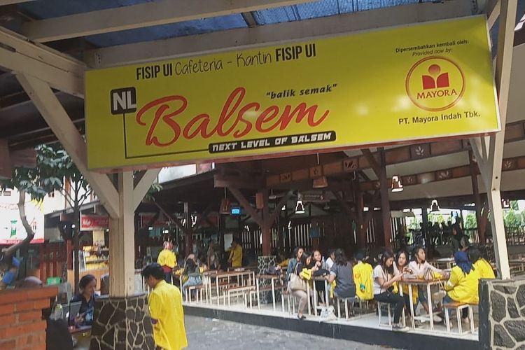 Kantin Balik Semak atau biasa dikenal dengan Balsem menjadi pendahulu kantin-kantin lainnya di UI.