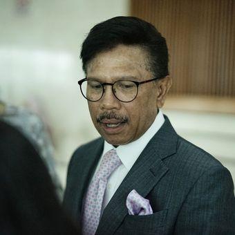 Sekjen Partai Nasdem Johnny G. Plate saat ditemui di Kompleks Parlemen, Senayan, Jakarta, Rabu (8/6/2019).