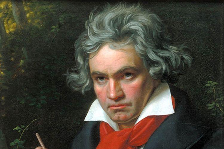 Lukisan wajah Ludwig van Beethoven, komposer kenamaan dunia, karya Josef Karl Stieler.