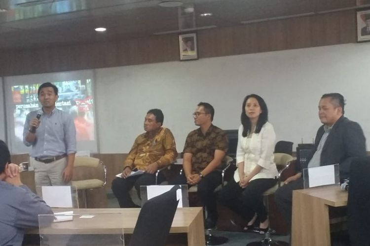 Diskusi bertema Building Jakarta Upwards di Sekolah Bisnis dan Manajemen Institut Teknologi Bandung (SBM ITB), Jakarta, Senin (10/12/2018).