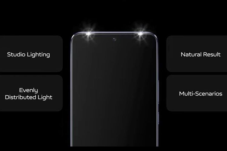 Dual Selfie Spotlight di Vivo V21 5G.