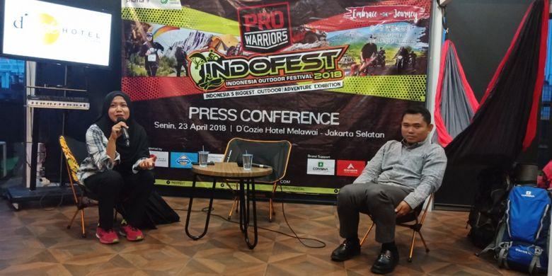 Konferensi pers Indofest 2018 di DCozie Hotel, Jakarta, Senin (23/4/2018).