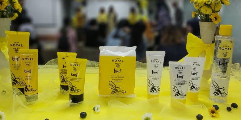 Rangkaian lengkap produk Jafra Royal Ultra Boost.