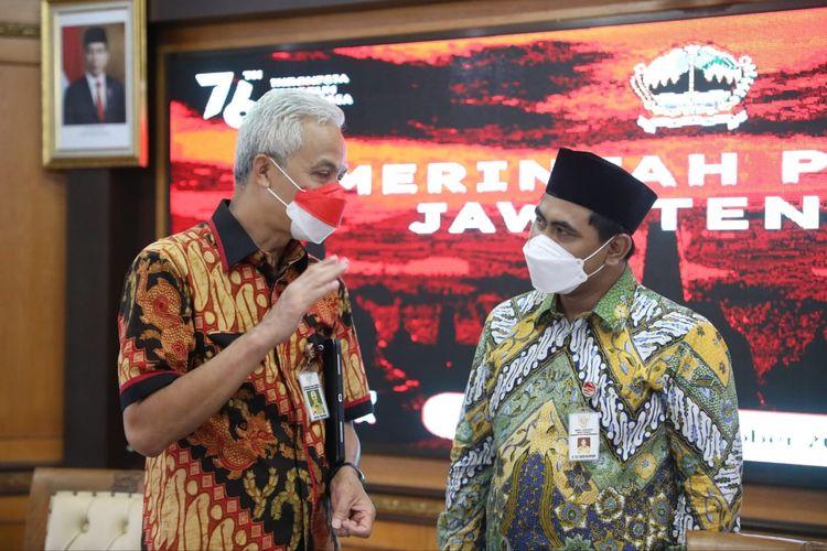 Gubernur Jawa Tengah (Jateng) Ganjar Pranowo dan Wakil Gubernur Jateng Taj Yasin Maimoen dalam salah satu kesempatan.