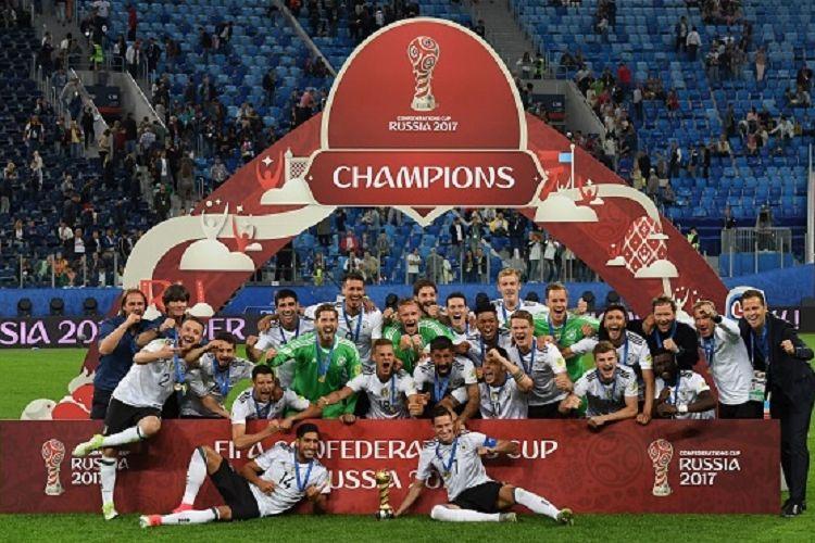 Jerman menjadi juara Piala Konfederasi 2017 setelah menang 1-0 atas Cile pada laga final di Saint Petersburg, Minggu (2/7/2017).