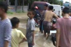 Banjir Rendam Jalur Trans-Sulawesi di Pinrang