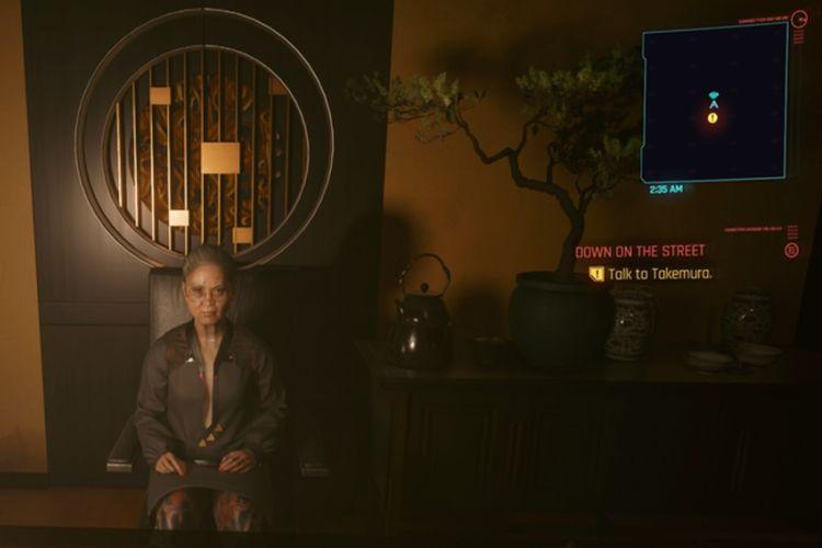 NPC Goro Takemura dalam game Cyberpunk 2077