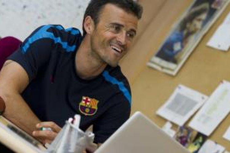 Pelatih baru Barcelona, Luis Enrique.