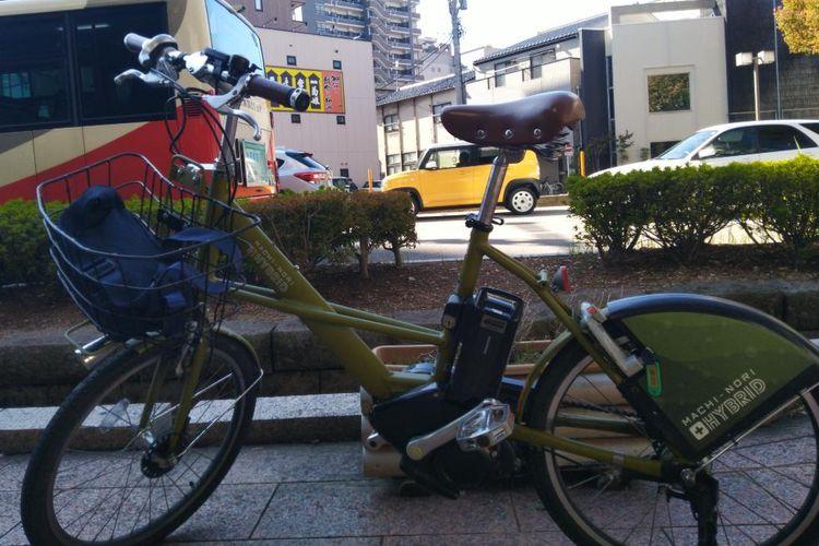 bersepeda di Kanazawa, Jepang