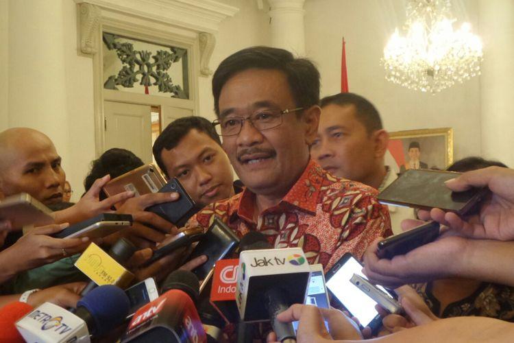 Plt Gubernur DKI Jakarta Djarot Saiful Hidayat di Balai Kota DKI Jakarta, Jalan Medan Merdeka Selatan, Jumat (9/6/2017).