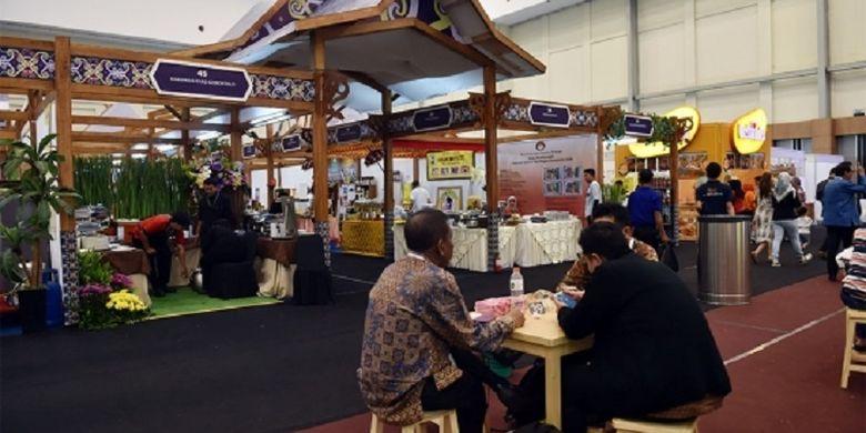 Suasana di pameran kuliner dan pangan nusantara di Trade Expo Indonesia (TEI) 2018, Rabu (25/10/2018)