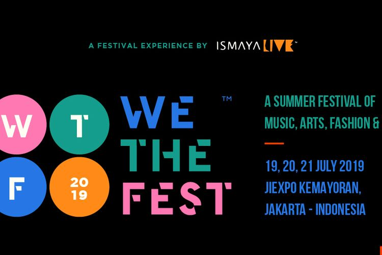 Poster acara We The Fest 2019.