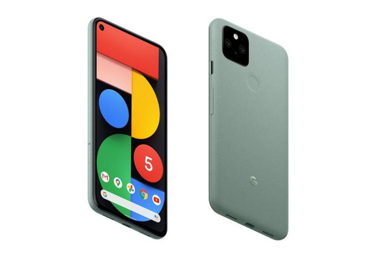 Pixel 5 varian warna Sorta Sage.