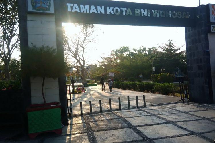 Suasana Taman Kota Wonosari, Gunungkidul, Selasa (21/8/2018)