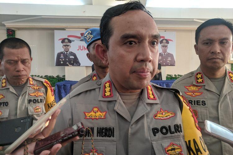 konferensi pers akhir tahun oleh Kapolres Metro Jakarta Utara Kombes Budhi Herdi Susianto di kantornya, Senin (30/12/2019)
