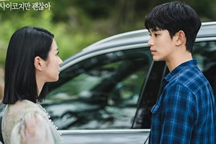 Seo Ye Ji dan Kim Soo Hyun dalam drama It?s Okay To Not Be Okay  (2020)
