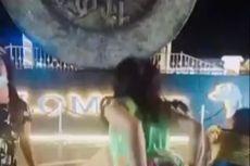 Viral, Video TikTok Goyang Perempuan Berdaster di Tugu Pangkalpinang