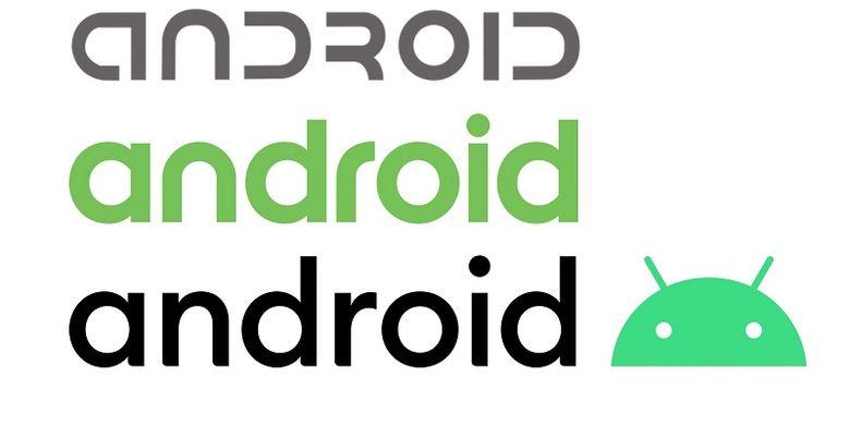 Perubahan desain logo Android dari tahun 2014 hingga 2019.