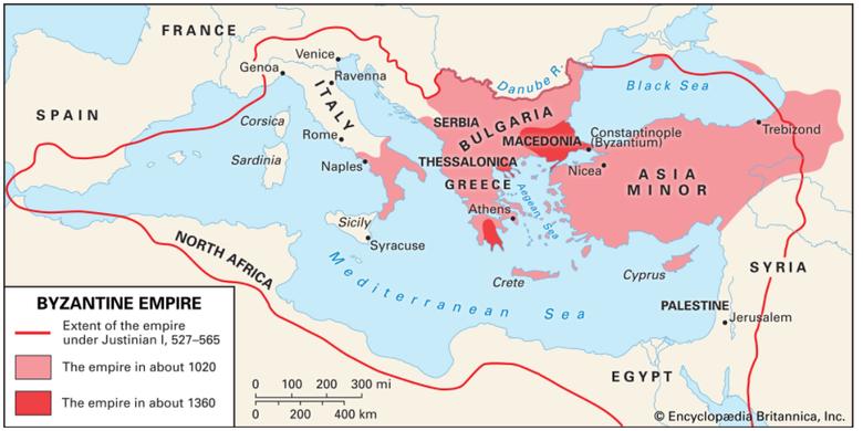 Peta Kekaisaran Bizantium