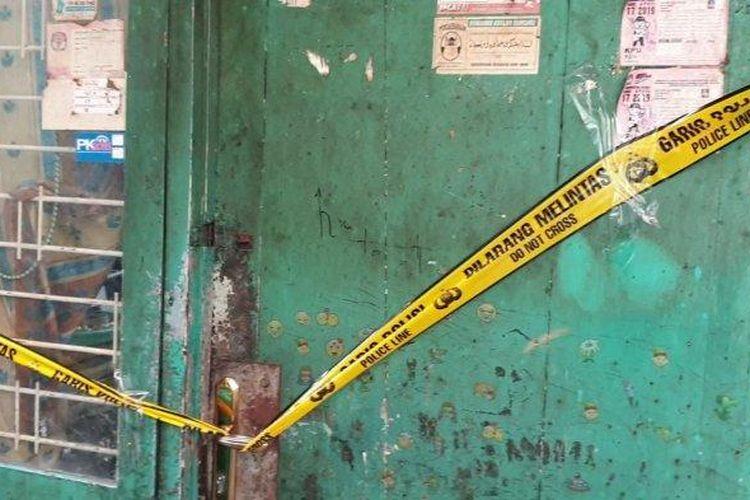 Rumah remaja perempuan yang membunuh bocah 5 tahun di kawasan Sawah Besar.