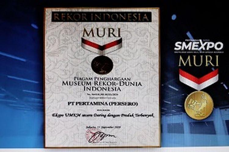 Gelar Pertamina SMEXPO 2020 secara virtual, Pertamina berhasil sabet rekor MURI dengan menggaet 32.741 pengunjung.