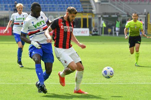 Hasil AC Milan Vs Sampdoria, Rossoneri Cuma Imbang Lawan 10 Pemain