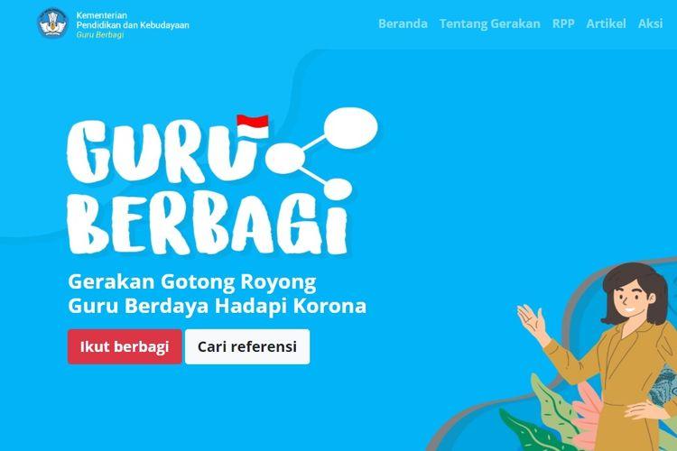 Portal Guru Berbagi Kemendikbud untuk mengatasi masalah mengajar online para guru