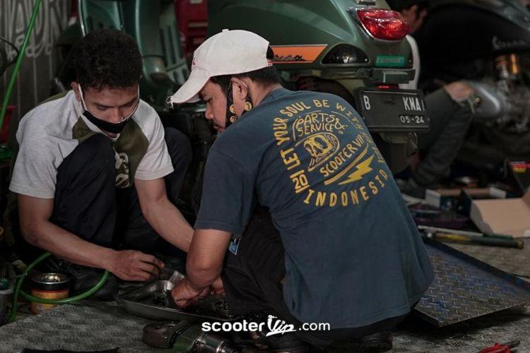 Bengkel Vespa matik Scooter VIP