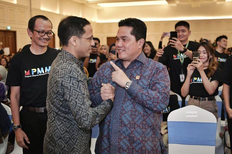 Program Magang Mahasiswa Bersertifikat (PMMB) 2020 diluncurkan Menteri BUMN Erick Thohir dan didampingi Kemendikbud Nadiem Makarim serta dihadiri direksi dari 143 BUMN dan mahasiswa serta rektor dari 300 PTN/PTS dari seluruh Indonesia (12/2/2020).