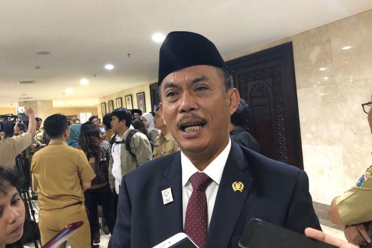Ketua DPRD DKI Jakarta Prasetio Edi Marsudi di Gedung DPRD DKI, Jalan Kebon Sirih, Senin (28/5/2018).