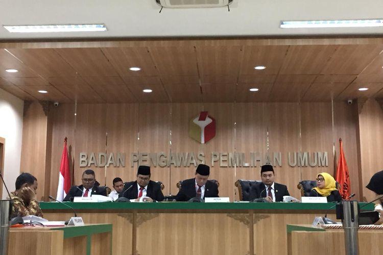 Sidang putusan pendahuluan Bawaslu, dipimpin oleh Ketua Bawaslu Abhan, Rabu (29/5/2019)