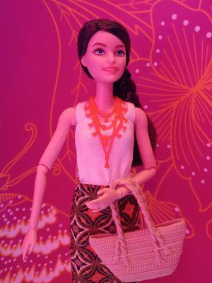 Barbie Batik Kirana dengan motif Kawung Manis hasil kolaborasi Barbie dengan Iwan Tirta Private Collection.