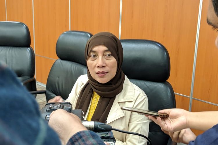 Anggota DPRD DKI Jakarta Fraksi PDI-P, Ida Mahmudah saat ditemui di Gedung DPRD DKI Jakarta, Senin (4/11/2019).