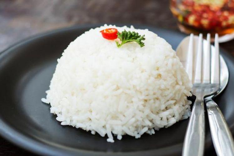 Ilustrasi nasi putih.