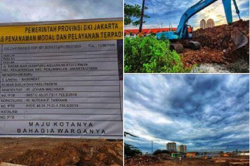 Anies Unggah Foto Pembangunan Kampung Akuarium Dimulai