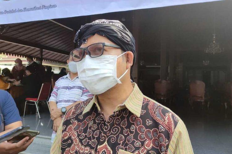 Bupati Banyunas Achmad Husein di di kompleks Pendapa Sipanji Purwokerto, Kabupaten Banyumas, Kamis (20/5/2021).