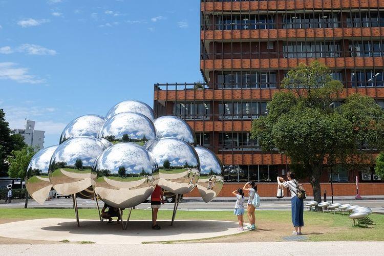 Salah satu instalasi seni yang ada di 21st Century Museum of Contemporary Art di Jepang.