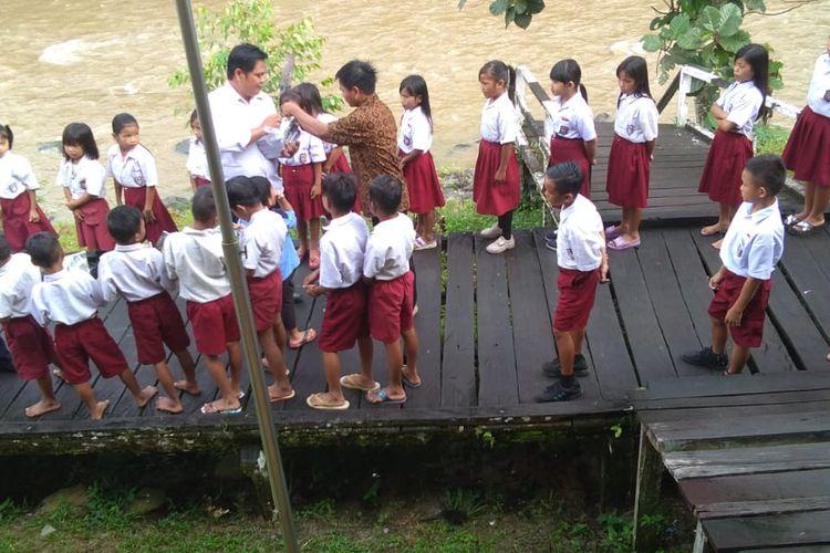 Ilustrasi : gambaran kondisi sekolah di perbatasan RI - Malaysia kabupaten Nunukan Kaltara