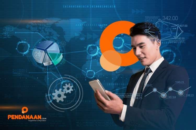 Ilustrasi pengguna aplikasi KTAKilat milik Pendanaan.com.